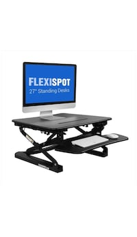 "New 27"" Platform Height Adjustable Standing Desk Riser in White"
