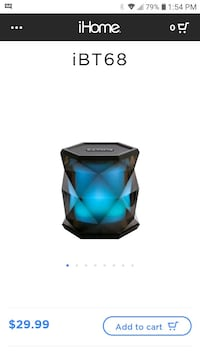 IHOME color changing bluetooth speaker Jefferson, 70121