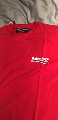 MENS RED BALENCIAGA T SHIRT REG RETAIL 750.00 SAVE  Brampton, L6P 2K5