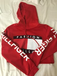 red and white Adidas pullover hoodie Seattle, 98178
