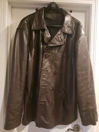 Mens 2XL Brown leather jacket Charlotte