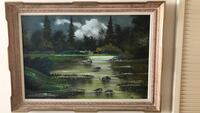 brown wooden framed painting of trees Toronto, M6B 4B4