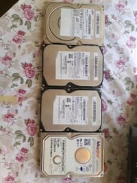 HDD 4 adet uçtane 80 gb birtane 40 gb