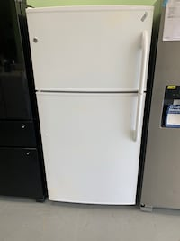 GE white top and bottom 33 inch refrigerator on sale no credit needed Essex, 21221