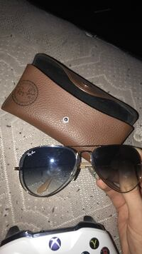Gold frame ray-ban aviator sunglasses with case Tracy, 95376