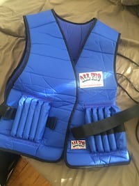 All pro 20 lb weight vest. I used it once but I have no use for it. Washington, 20018