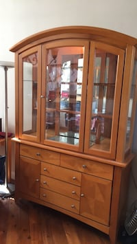 brown wooden framed glass display cabinet San Diego, 92128