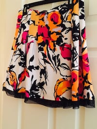 Yellow red black and white floral mini skirt Chino, 91710
