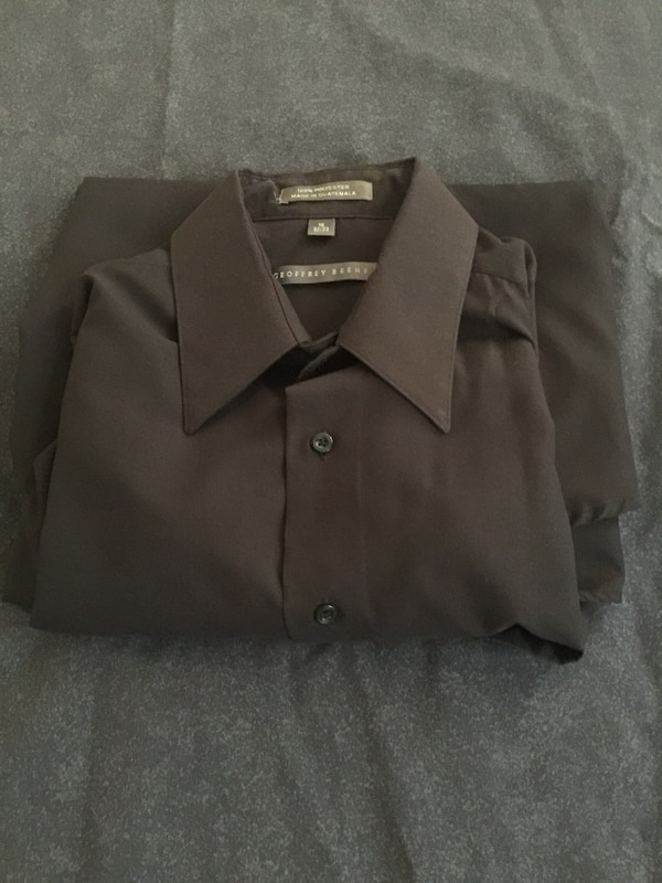 Used Black Geoffrey Beene Dress Shirt 16 Quot Neck 32 33