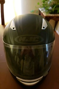HJC Motorcycle Helmet,  black and silver