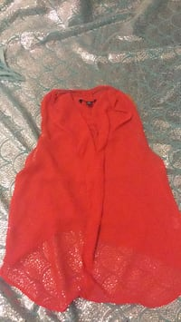 women's red button-up jacket 1299 km