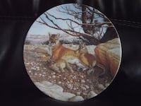"Bradex Collectors Plate ""The Cougar"" 1989 Lee Cable Hanover"