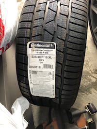 BRAND NEW PAIR CONTINENTAL WINTER TIRES 235 40 R18