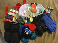 Hats, gloves and mitts (all are new)