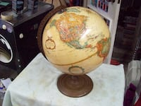 brown and white desk globe Langley