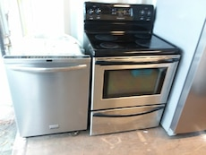 #1697 complete stainless Frigidaire kitchen set