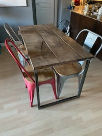 One of a kind barn board dining room table and chairs set Toronto, M9P 0A1