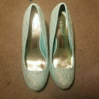 pair of gray leather pumps Austin, 78754