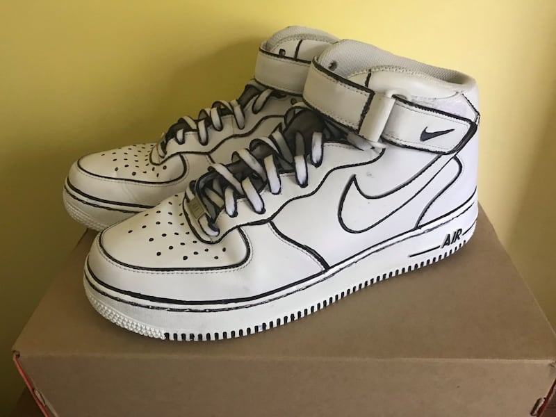 Used Custom Nike Air Force One 1 Sneaker Shoes M 9 5 For Sale In