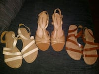 Womens shoes lot sandals are sz 8 and wedges sz9 San Antonio, 78228