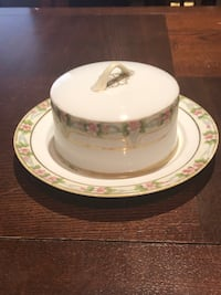 Nippon butter plate with cover