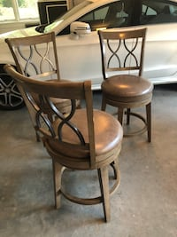 Three counter height stools.  May need minor touch ups.  $175 each.   Oakton, 22124