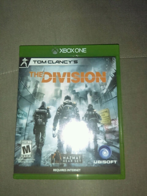Tom Clancy's The Division Xbox One game case