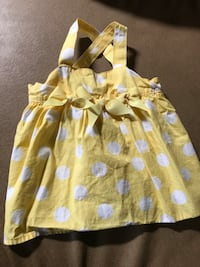 toddler's yellow and white floral sleeveless dress