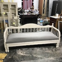 white wooden bed frame and white mattress Buena Park, 90620