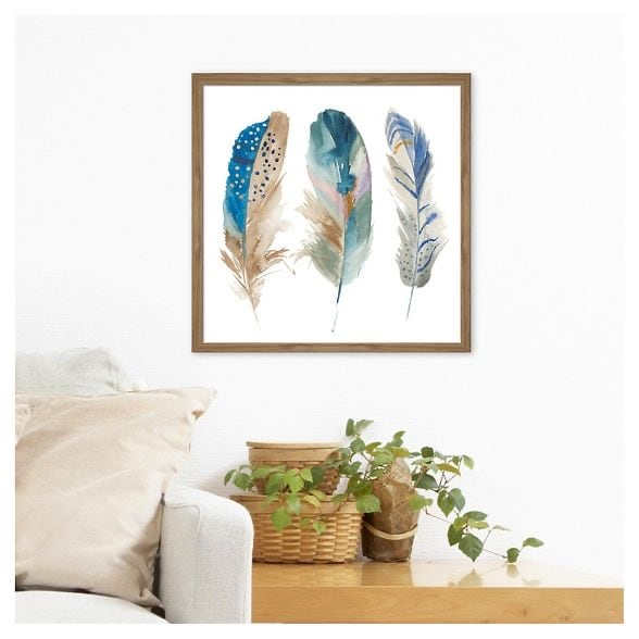 Target Framed Feather Watercolor Art