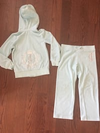 Juicy Couture tiffany blue Terry cloth track suit 6/7 yrs (worn once) retail $200 Toronto, M9P 1P7