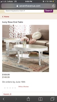 Coffee table and end table  Troy, 03465