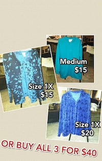 3 Women's Sweater Jackets Tulsa, 74127