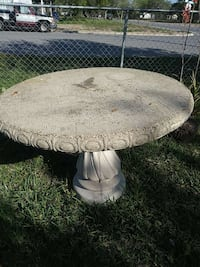round white marble top table
