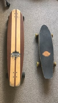brown wooden deck long board and cruiser board Fairfield, 06825