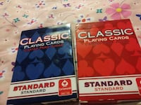 two Classic playing cards boxes