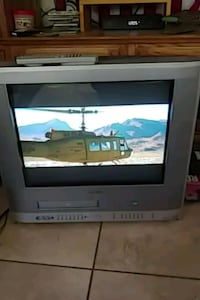 gray CRT TV with remote VCR and DVD Murrieta, 92562