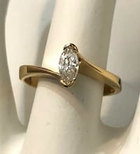 14K Yellow Gold .35ct. Marquise Cut Diamond Engagement Ring Vaughan, L4J