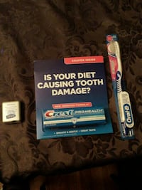 Oral B toothbrush and Crest toothpaste packages Calgary, T1Y 4X7