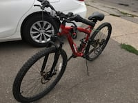 red and black full-suspension bike (NEED GONE ASAP) Toronto, M6M 4N7