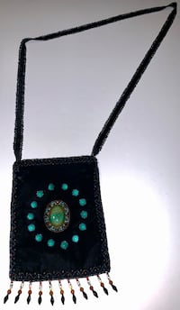 Beaded Native Style Crossbody Bag