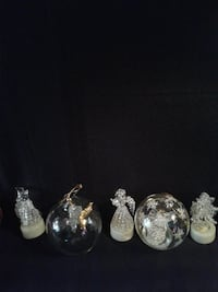 5 Pcs*2 GLASS Angel & 3 Colour Changing LIGHT-UP Ornaments * IF AD'S UP, IT'S STILL AVAILABLE Hamilton