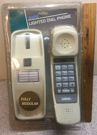 NOS Vintage White wall desk lighted push button Telephone NRFP MIP
