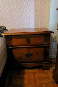 brown wooden 2-drawer nightstand Toronto, M3N 2Z1
