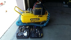 "Air Compressor w/Accessories. Stanley ""FAT MAX"""