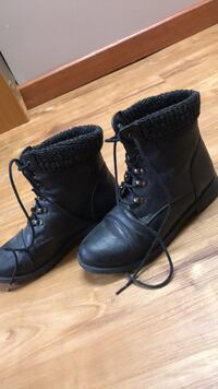 Pair of black leather boots Lincoln, 68505
