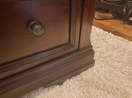 Queen Sleigh Bed with 2 drawers