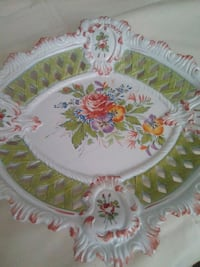 white and pink floral ceramic plate Las Vegas, 89129
