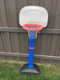 white, blue, and red Little Tikes basketball hoop Toronto, M4B 1T3