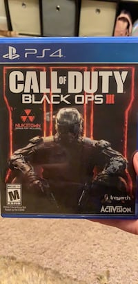 PS4 Call of Duty Black Ops 3 game case Centreville, 20120